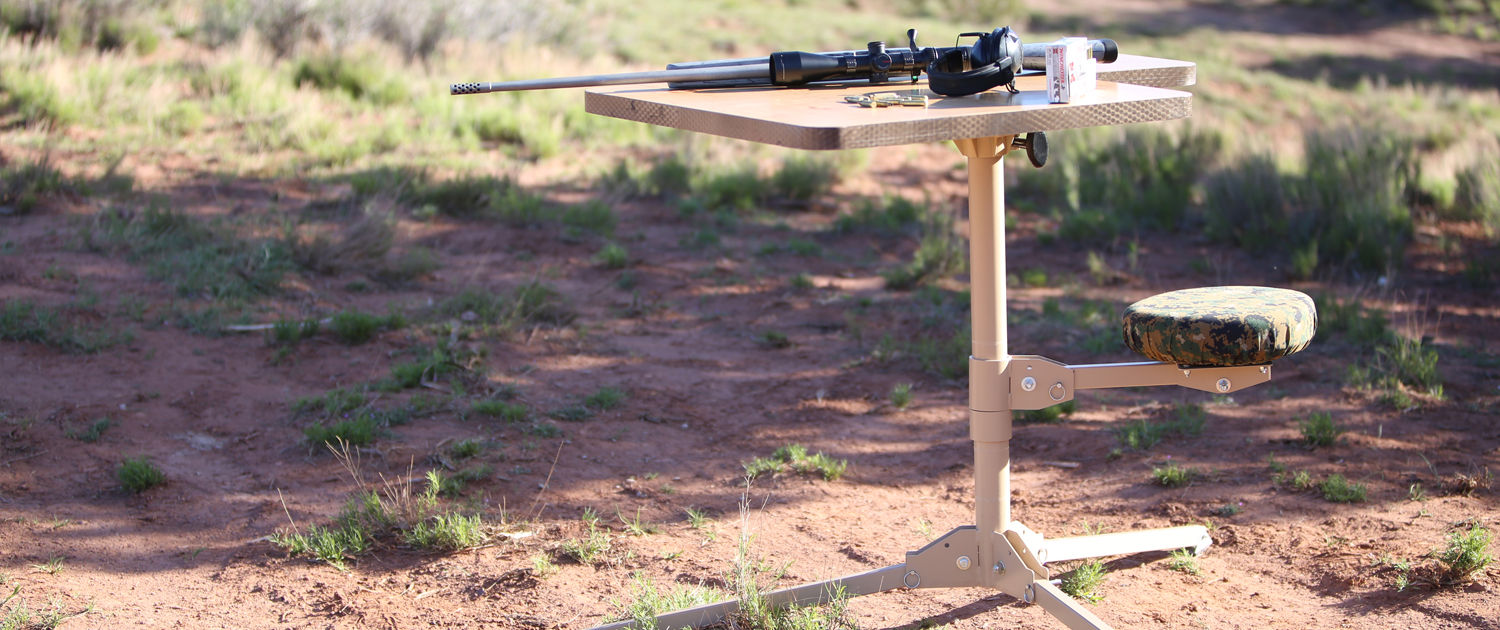 collapsible shooting bench